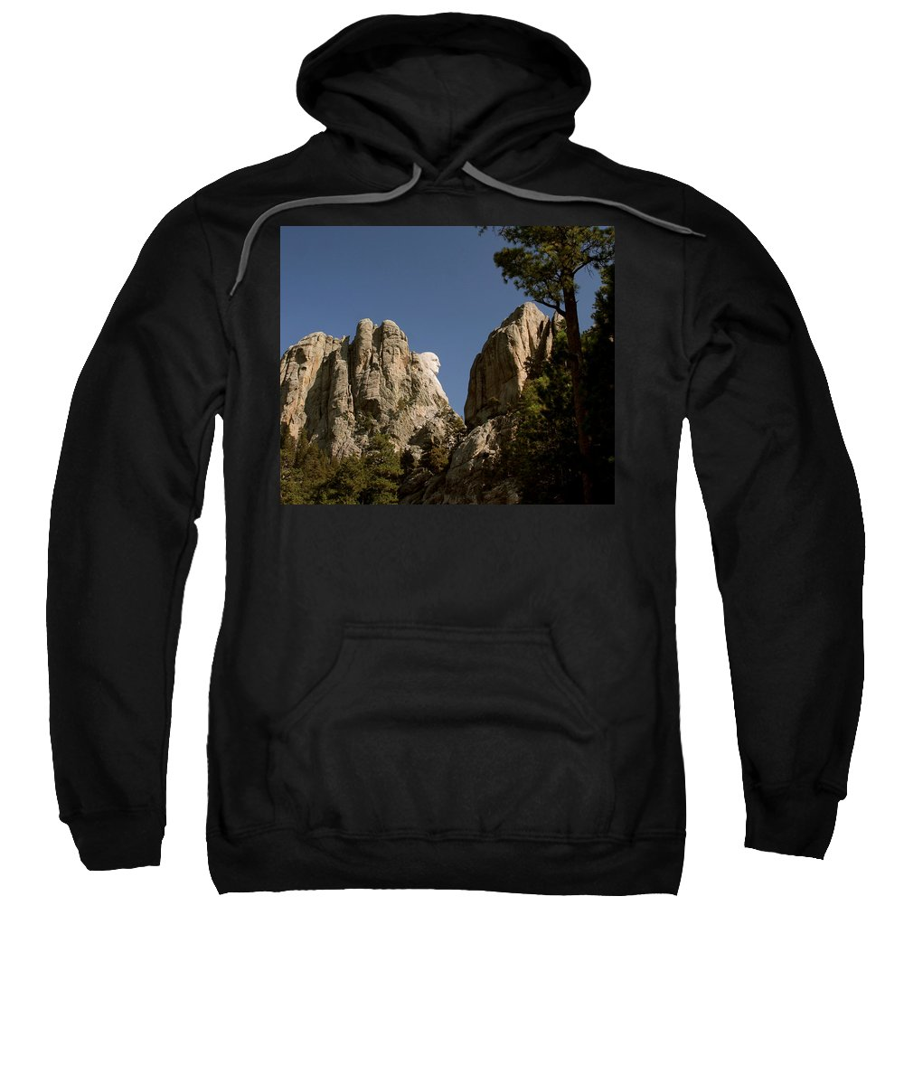 Mount Rushmore Sweatshirt featuring the photograph Washingtons Profile II by Mike Oistad