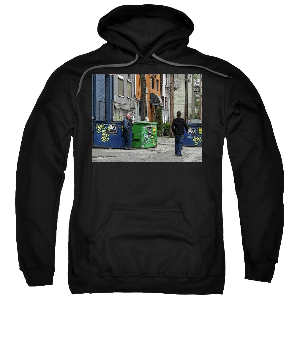 Urban Sweatshirt featuring the photograph Watching by Sheryl R Smith