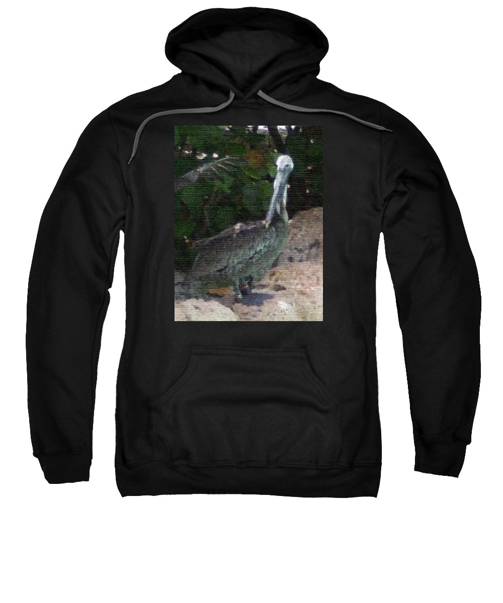 Bird Sweatshirt featuring the mixed media Water Bird by Pharris Art