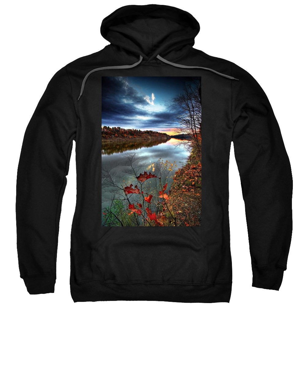 Mohawk River Sweatshirt featuring the photograph Water Colors by Neil Shapiro