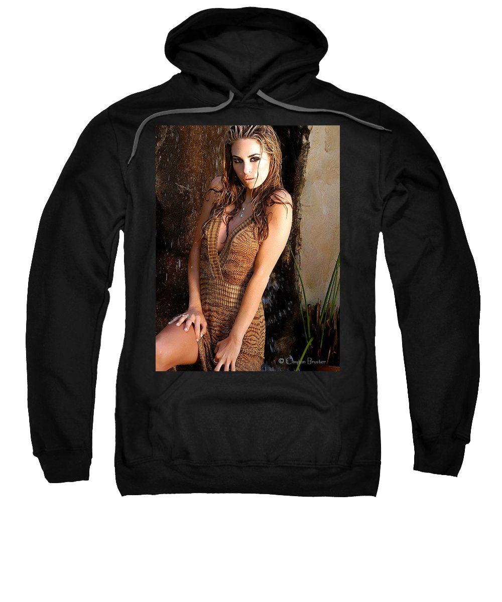 Clay Sweatshirt featuring the photograph Water Fall Beauty by Clayton Bruster
