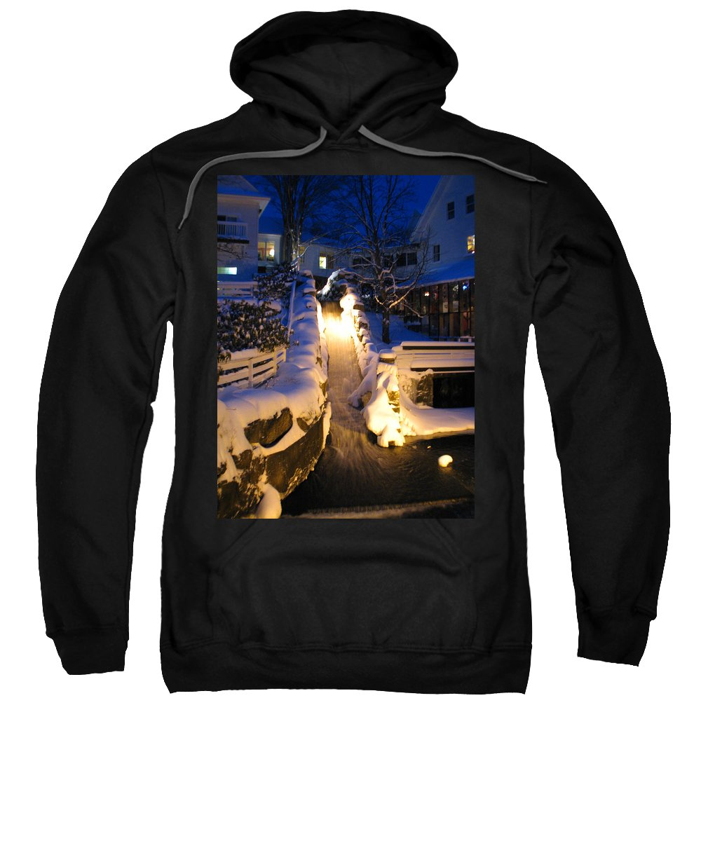 Meredith Nh Sweatshirt featuring the photograph Water Fall by Michael Mooney