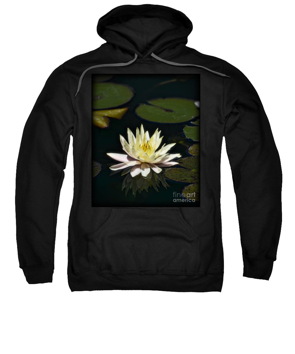 Water Lilly Sweatshirt featuring the photograph Water Lilly by Saija Lehtonen