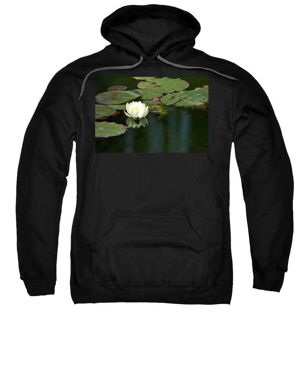 Lily Sweatshirt featuring the photograph Water Lily by Heather Coen
