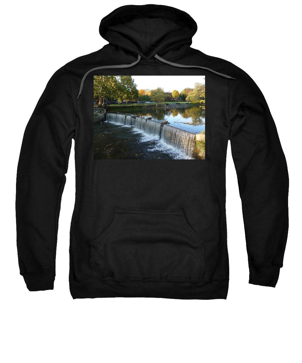 Chagrin Falls Sweatshirt featuring the photograph Water Over The Dam by Joel Deutsch
