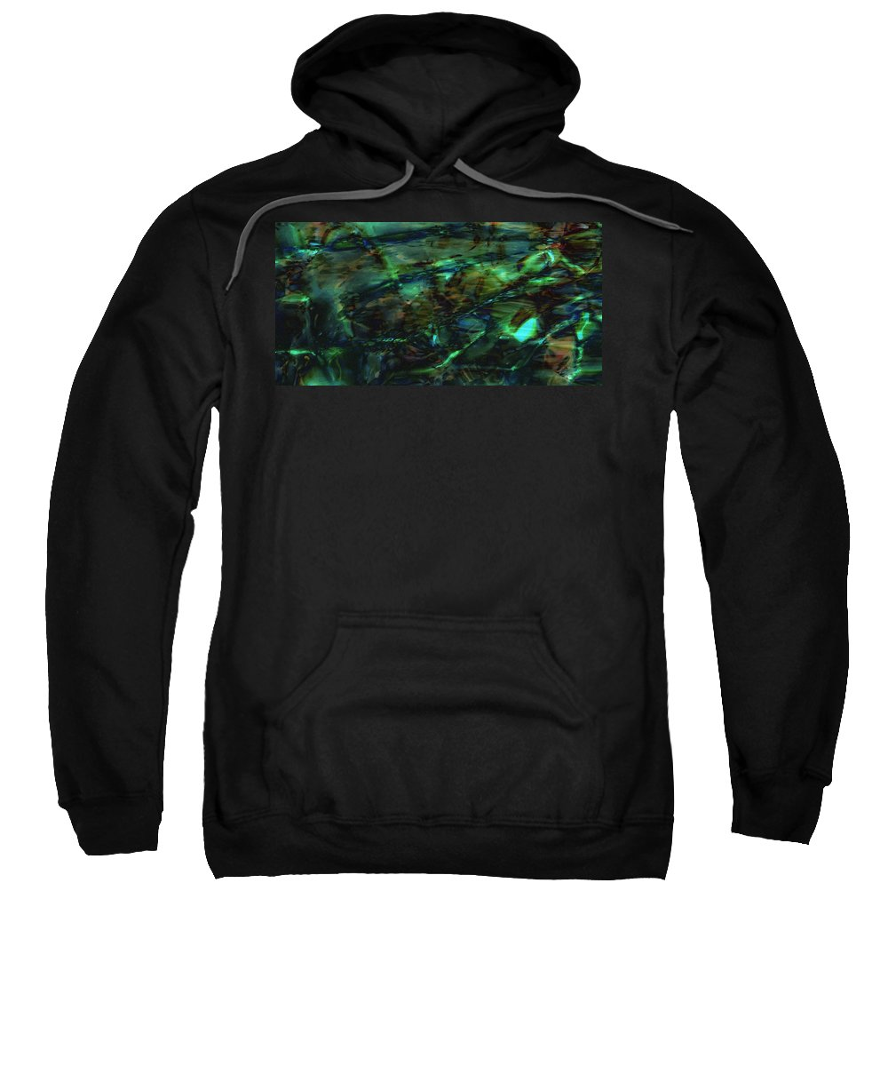 Abstraction Sweatshirt featuring the digital art Water Play by Max Steinwald