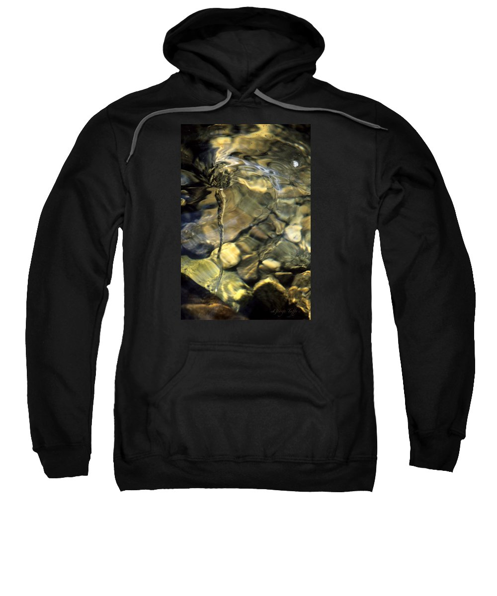 Water Creek Fourmile Canyon Spout Nature Water Rocks Colorado Sweatshirt featuring the photograph Water Spout by George Tuffy