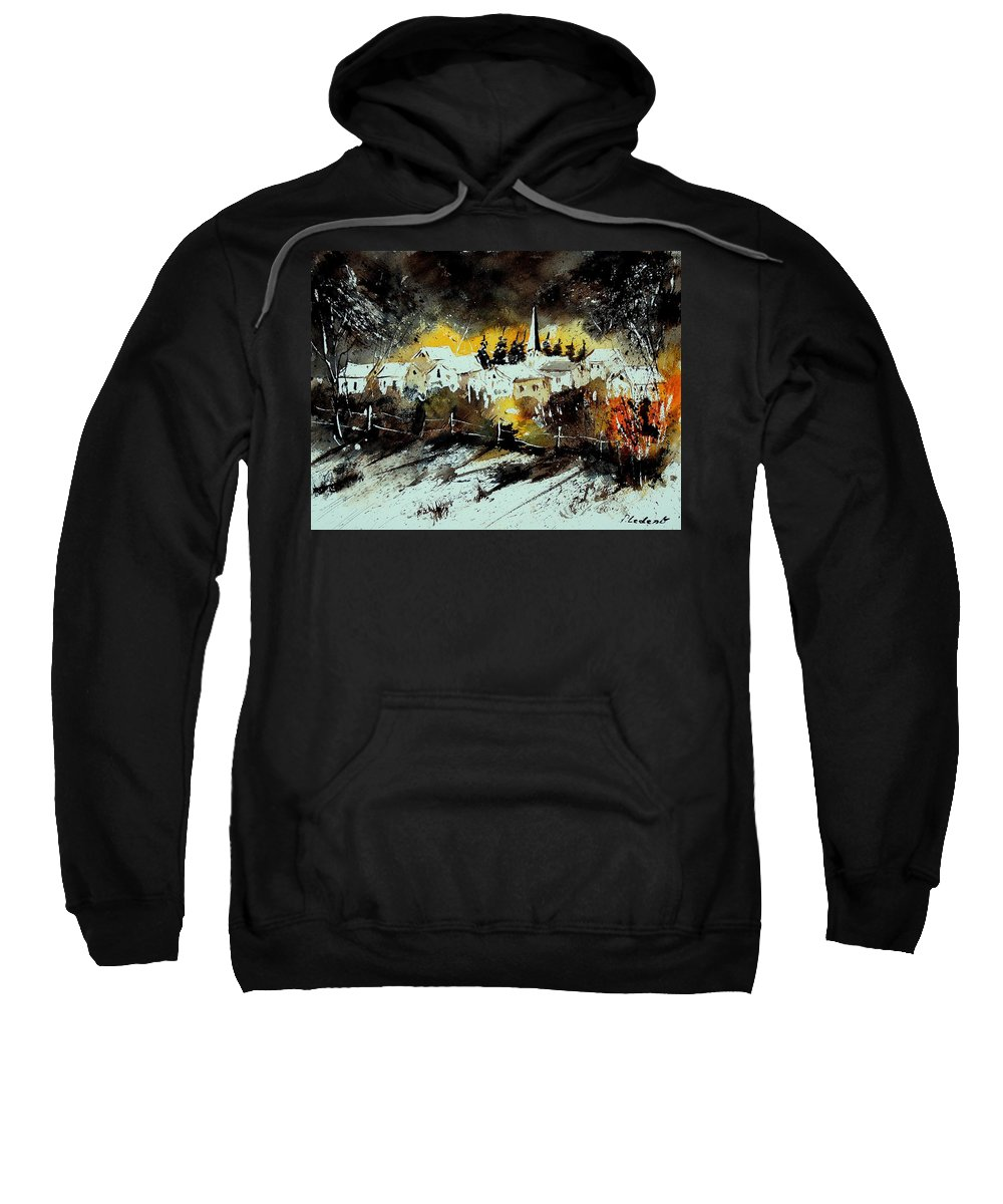 River Sweatshirt featuring the painting Watercolor 909072 by Pol Ledent