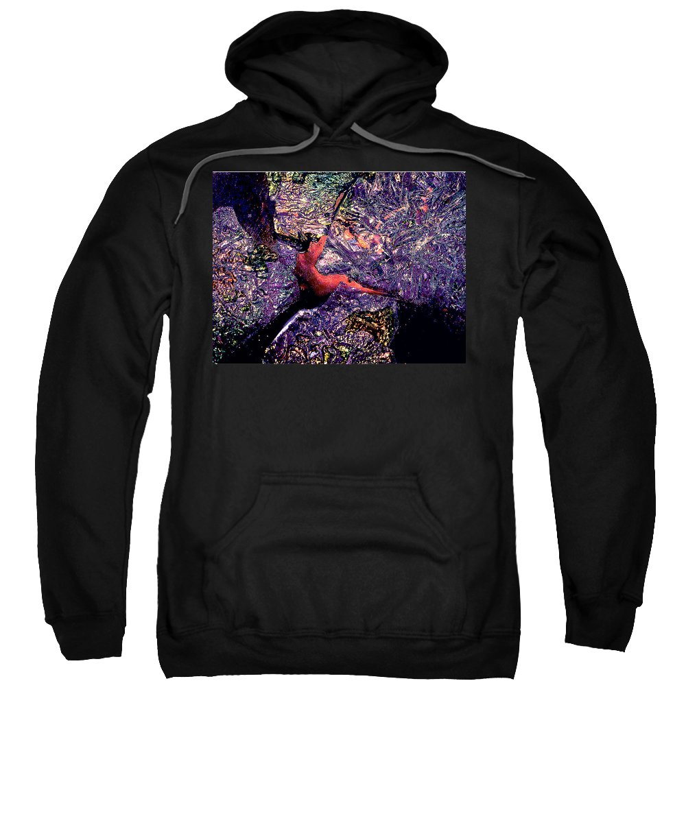 Water Sweatshirt featuring the photograph Waterdrop Abstract by Nancy Mueller