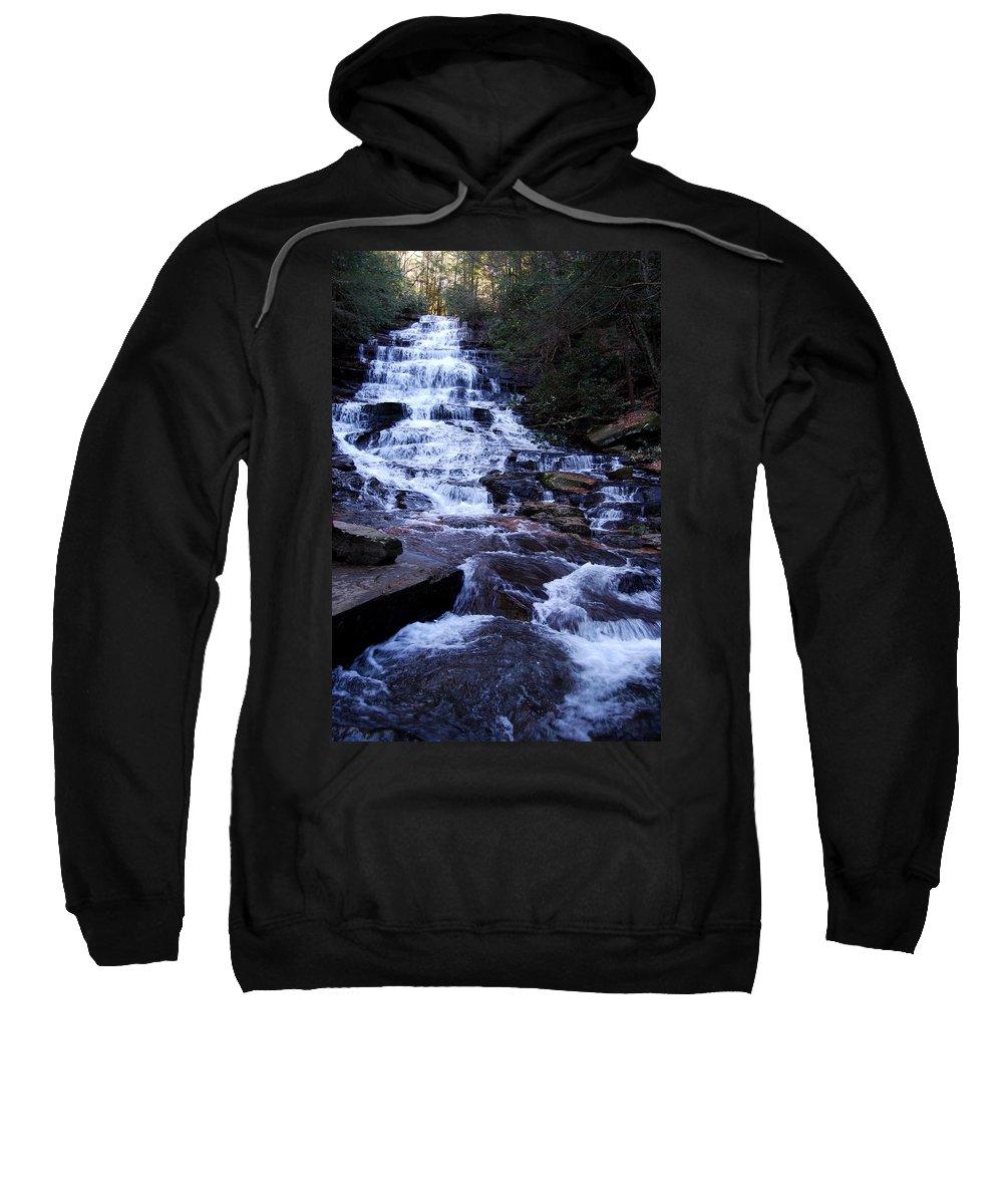 Waterfall Sweatshirt featuring the photograph Waterfall In Georgia by Angela Murray