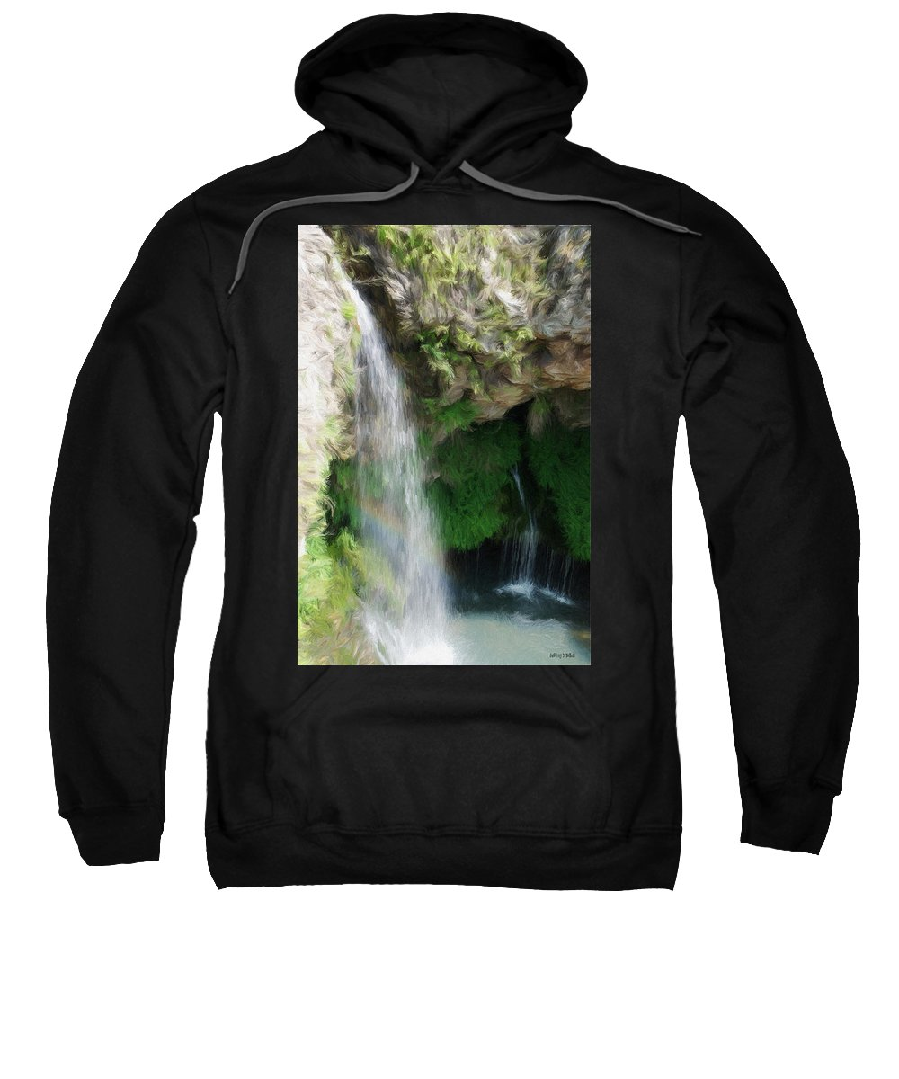 Waterfall Sweatshirt featuring the painting Waterfall by Jeffrey Kolker