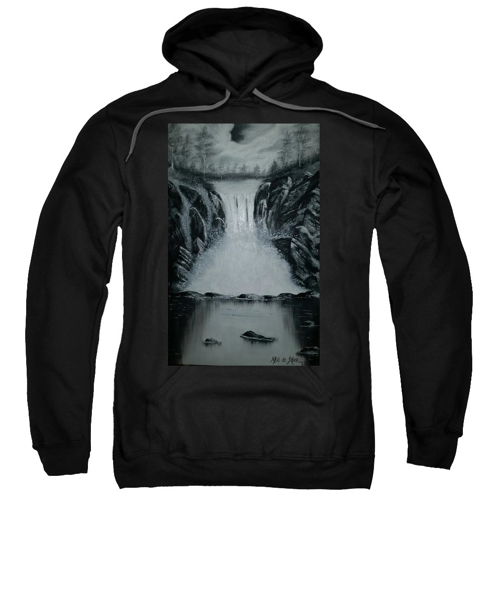 Waterfall Sweatshirt featuring the painting Waterfall Of Life by Alta De Jager