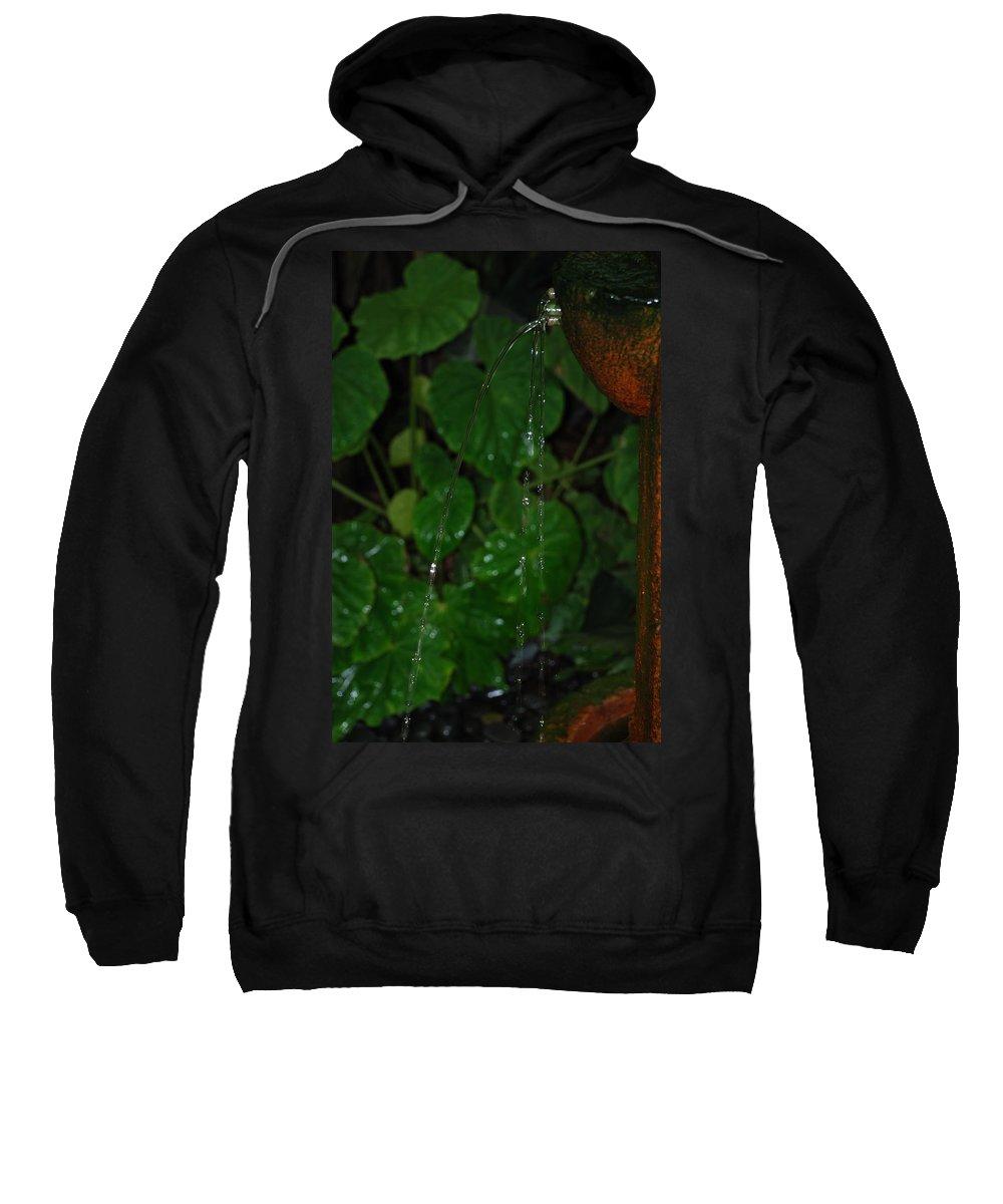 Macro Sweatshirt featuring the photograph Waterfall by Rob Hans