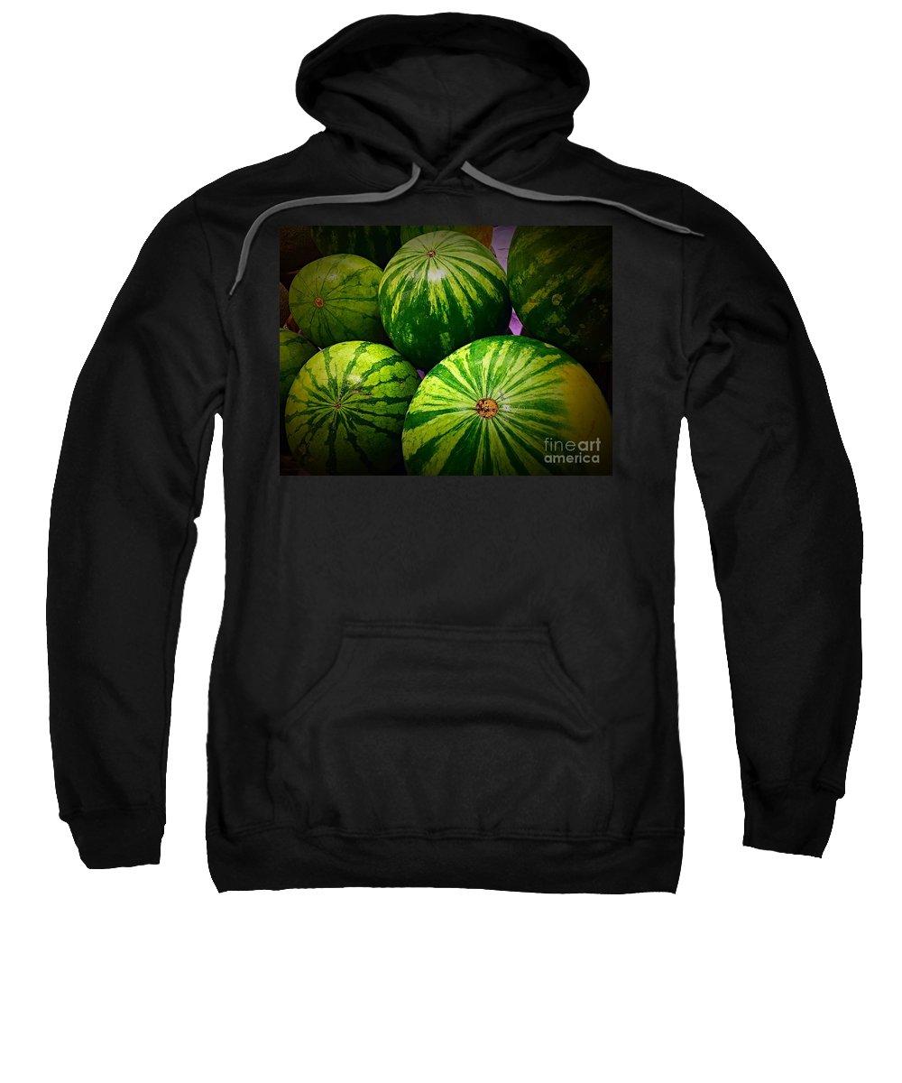 Watermelon Sweatshirt featuring the photograph Watermelon by Bri Lou