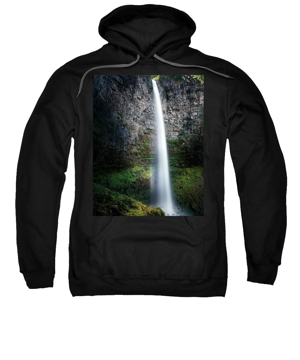 Oregon Sweatshirt featuring the photograph Watson Falls by Leland D Howard