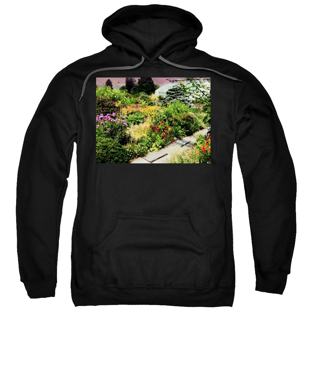 Garden Sweatshirt featuring the photograph Wave Hill Conservatory by Diana Angstadt
