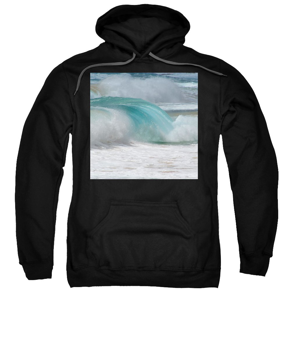 Hawaii Sweatshirt featuring the photograph Waves End by Kevin Smith