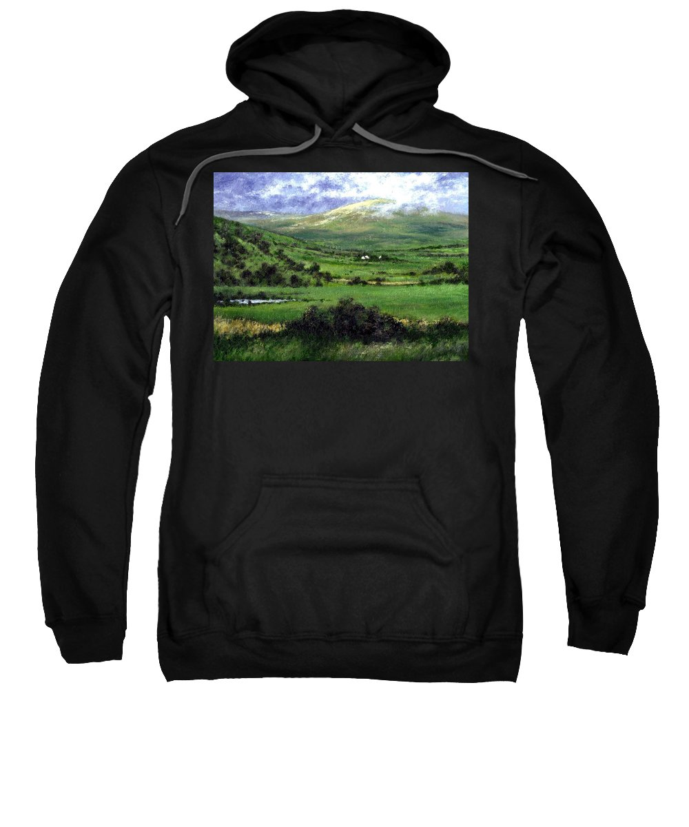 Landcape Sweatshirt featuring the painting Way to Ardara Ireland by Jim Gola