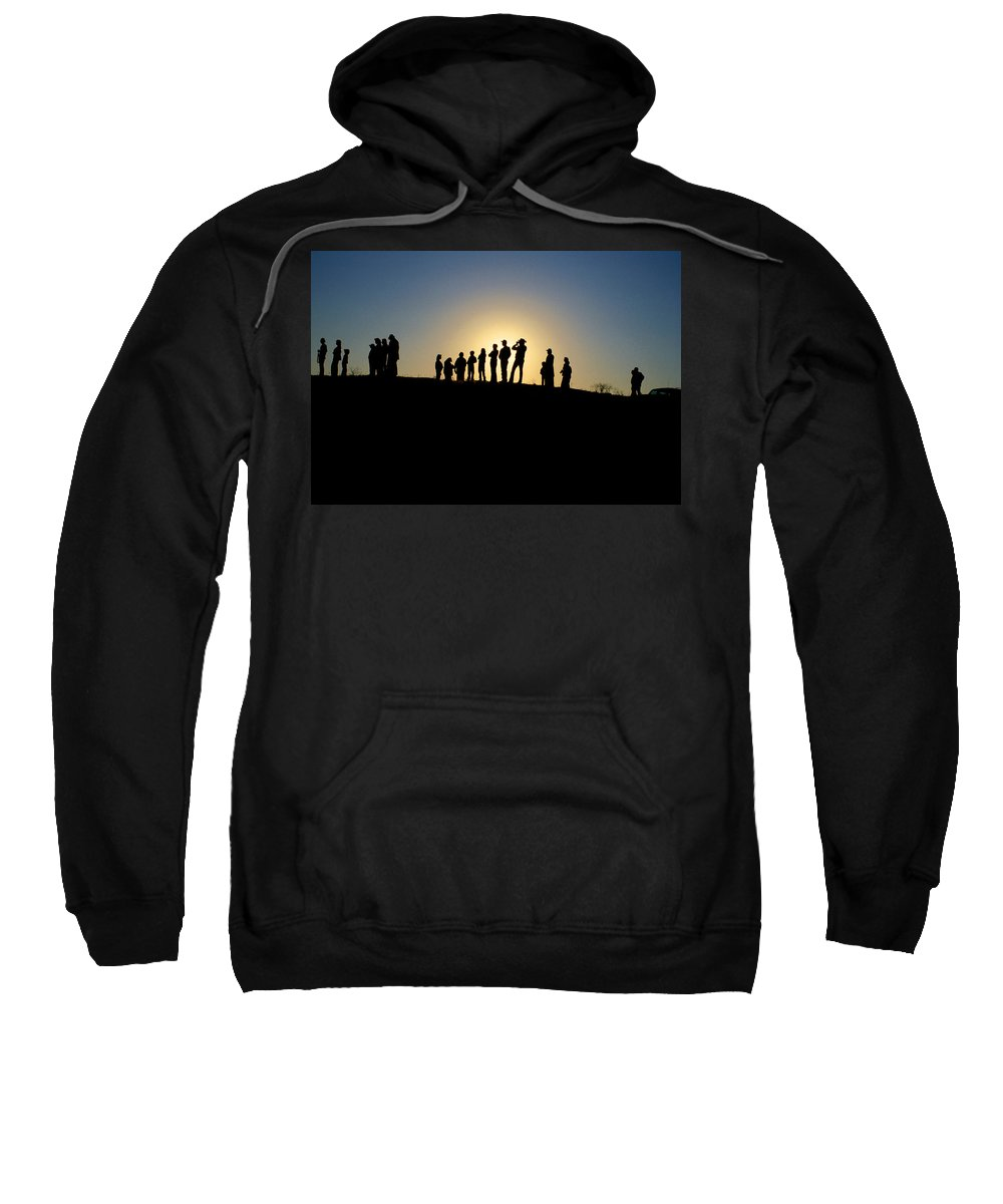 Silohuette Sweatshirt featuring the photograph We Are Waiting by Jerry McElroy