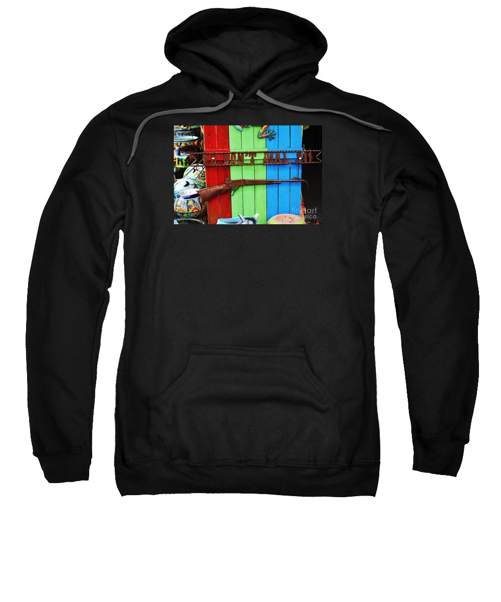 Rifle Sweatshirt featuring the photograph We Dont Call 911 by Chuck Hicks