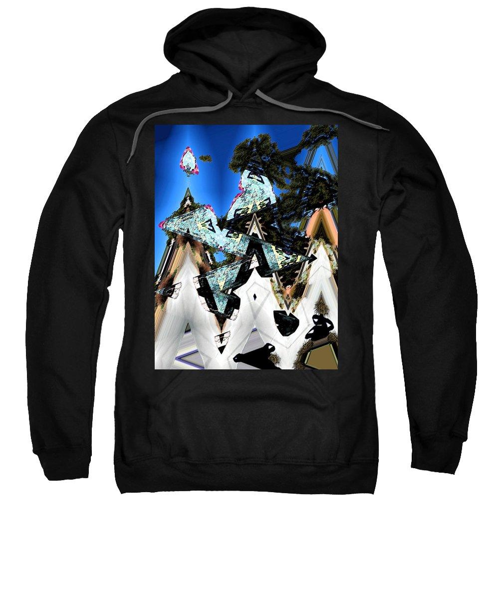 Abstract Sweatshirt featuring the digital art We Three Kings by Lenore Senior
