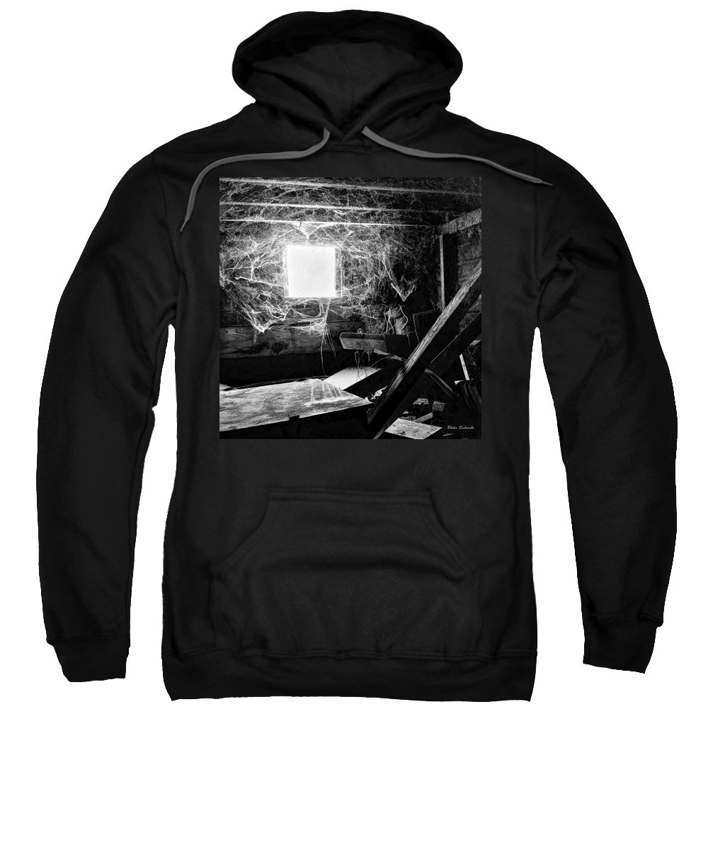 Sweatshirt featuring the photograph Webbed Window by Blake Richards