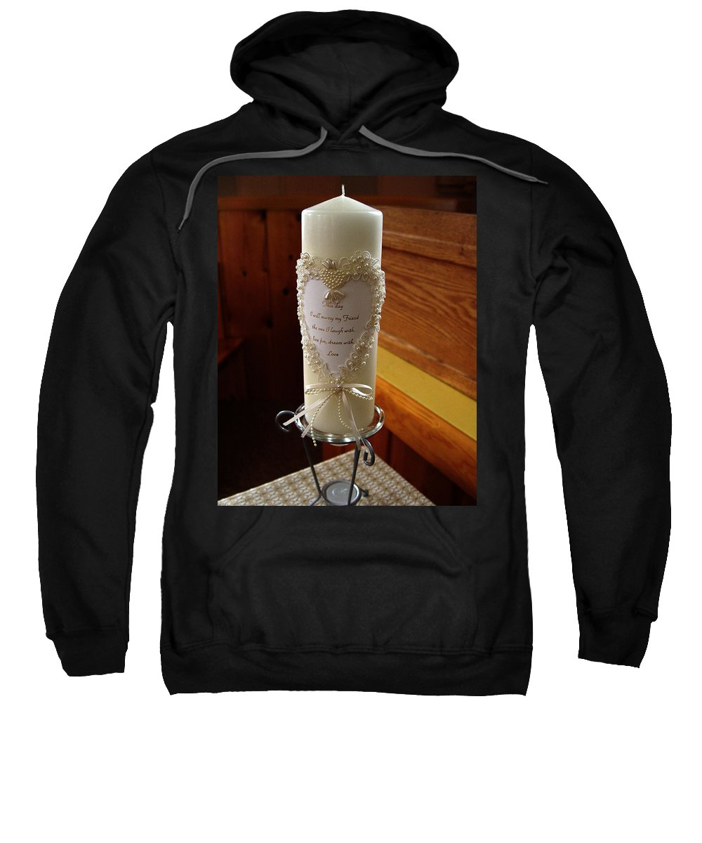 Wedding Candle Sweatshirt featuring the photograph Wedding Candle by Peter Piatt