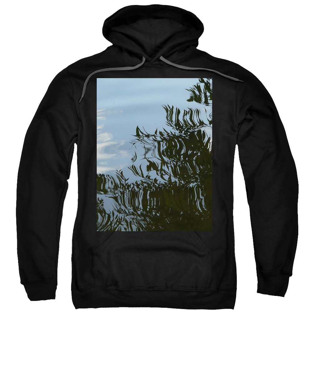 Tree Sweatshirt featuring the photograph Weeping Willow Reflection by Valerie Ornstein