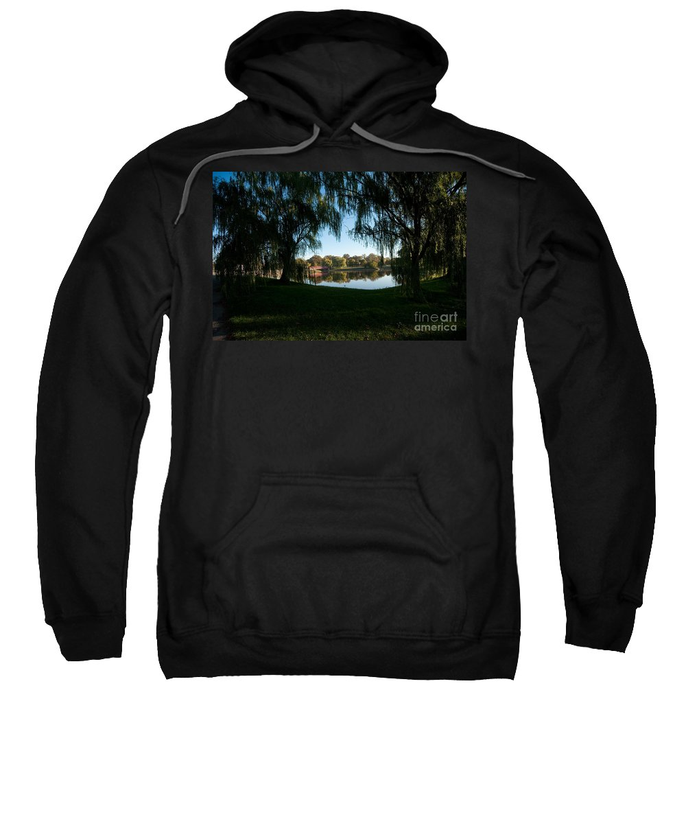 Weeping Sweatshirt featuring the photograph Weeping Willows by Steven Dunn