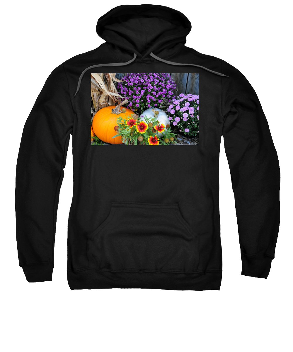 Pumpkin Sweatshirt featuring the photograph Welcome Fall by David Arment
