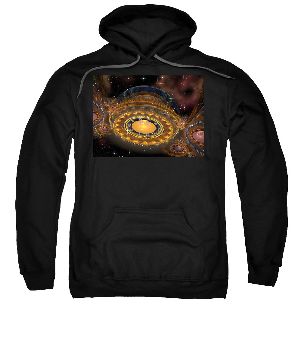 Philsh Sweatshirt featuring the digital art Welcome by Phil Sadler