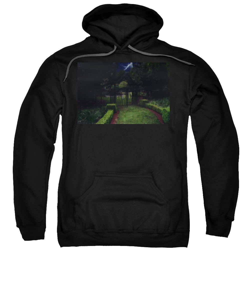 Landscape Sweatshirt featuring the painting Welcome To Dudleytown by RC DeWinter
