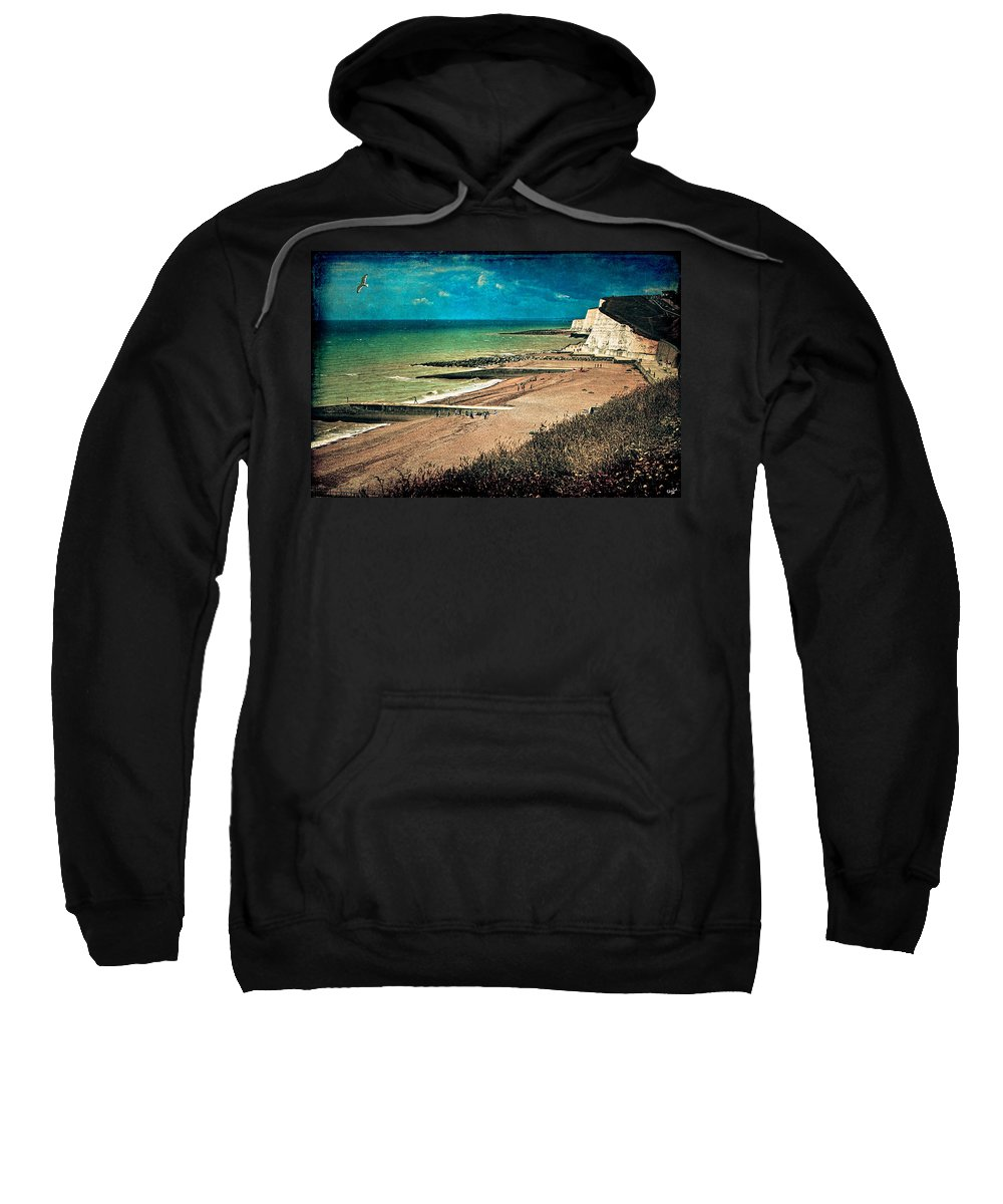 Beach Sweatshirt featuring the photograph Welcome To Saltdean An Imaginary Postcard by Chris Lord