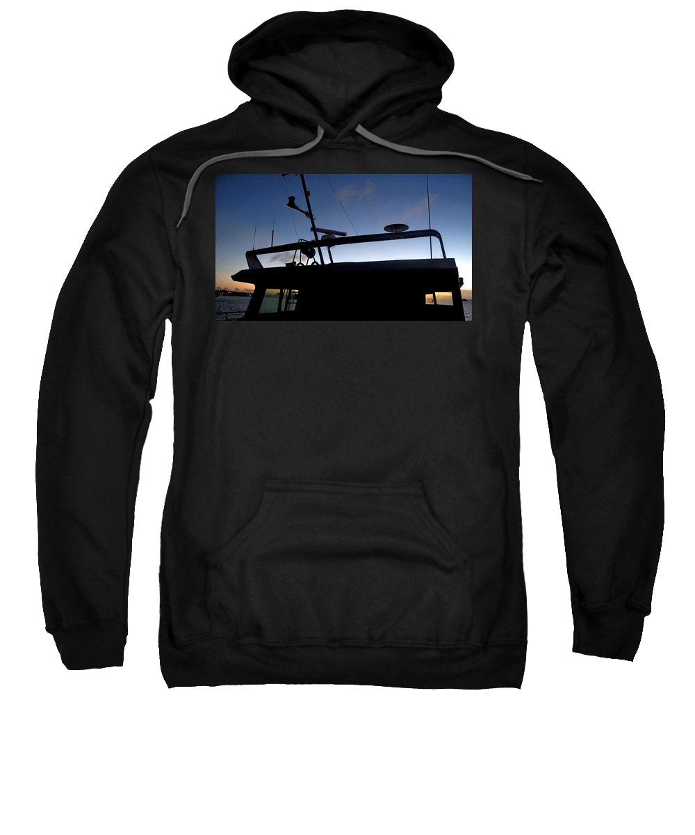 Boat Sweatshirt featuring the photograph West To Sommerset by Ian MacDonald