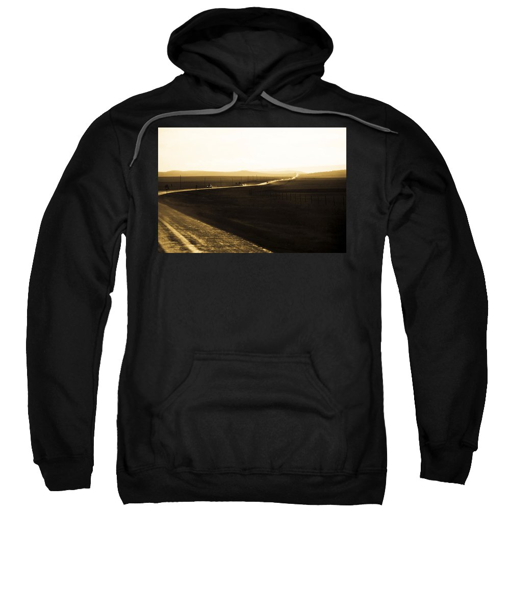 Rain Sweatshirt featuring the photograph Western Rain by Marilyn Hunt