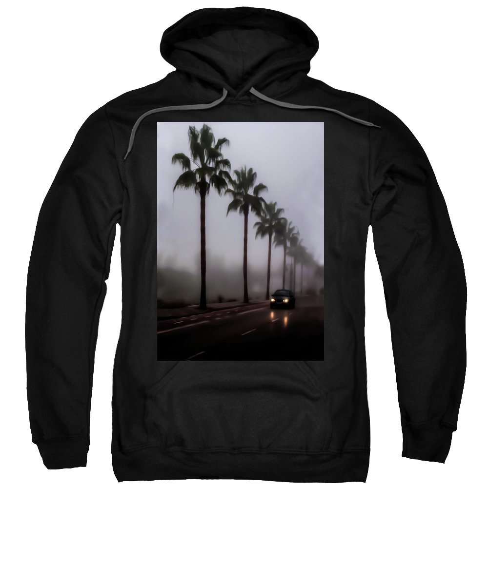At Night Sweatshirt featuring the photograph Wet Journey Home by Peter Hayward Photographer