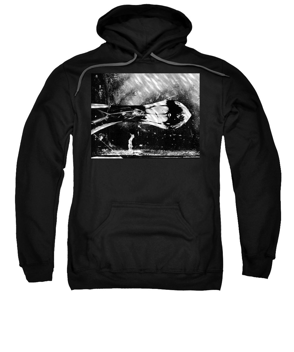 Skeleton Sweatshirt featuring the photograph What Lies Beneath by Scott Wyatt
