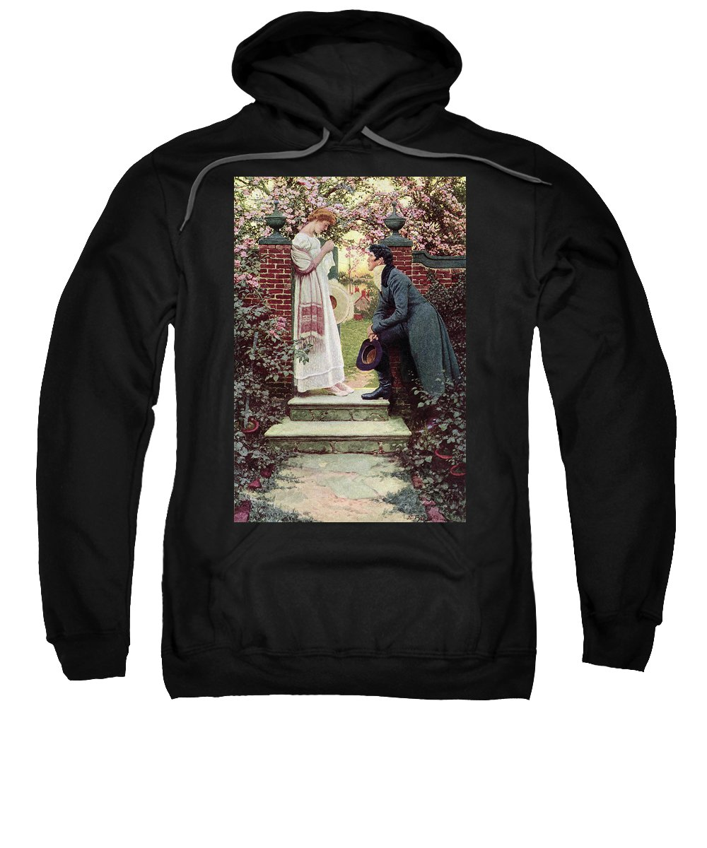 Dating Sweatshirt featuring the painting When All The World Seemed Young by Howard Pyle
