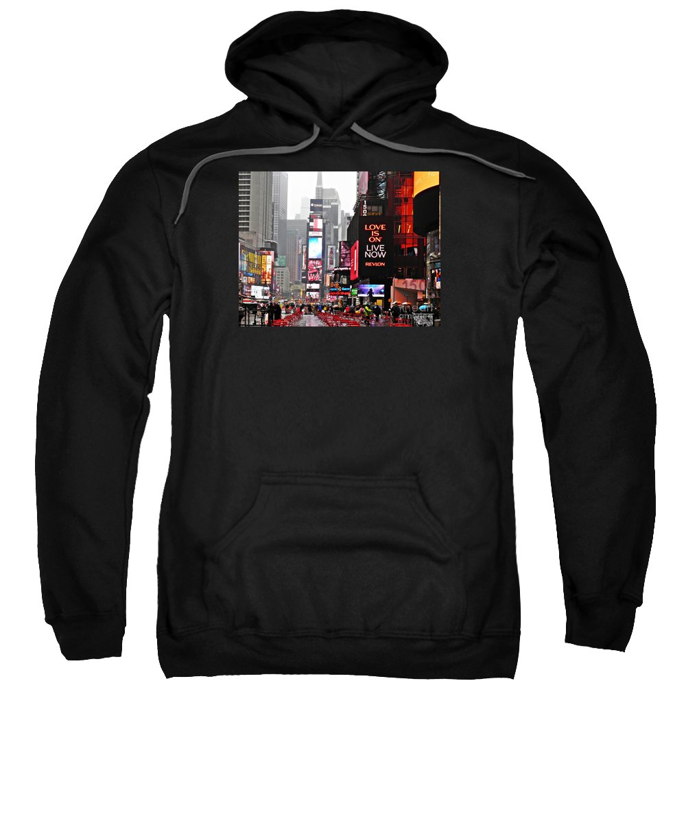 Manhattan Sweatshirt featuring the photograph When It Rains 2 by Sarah Loft