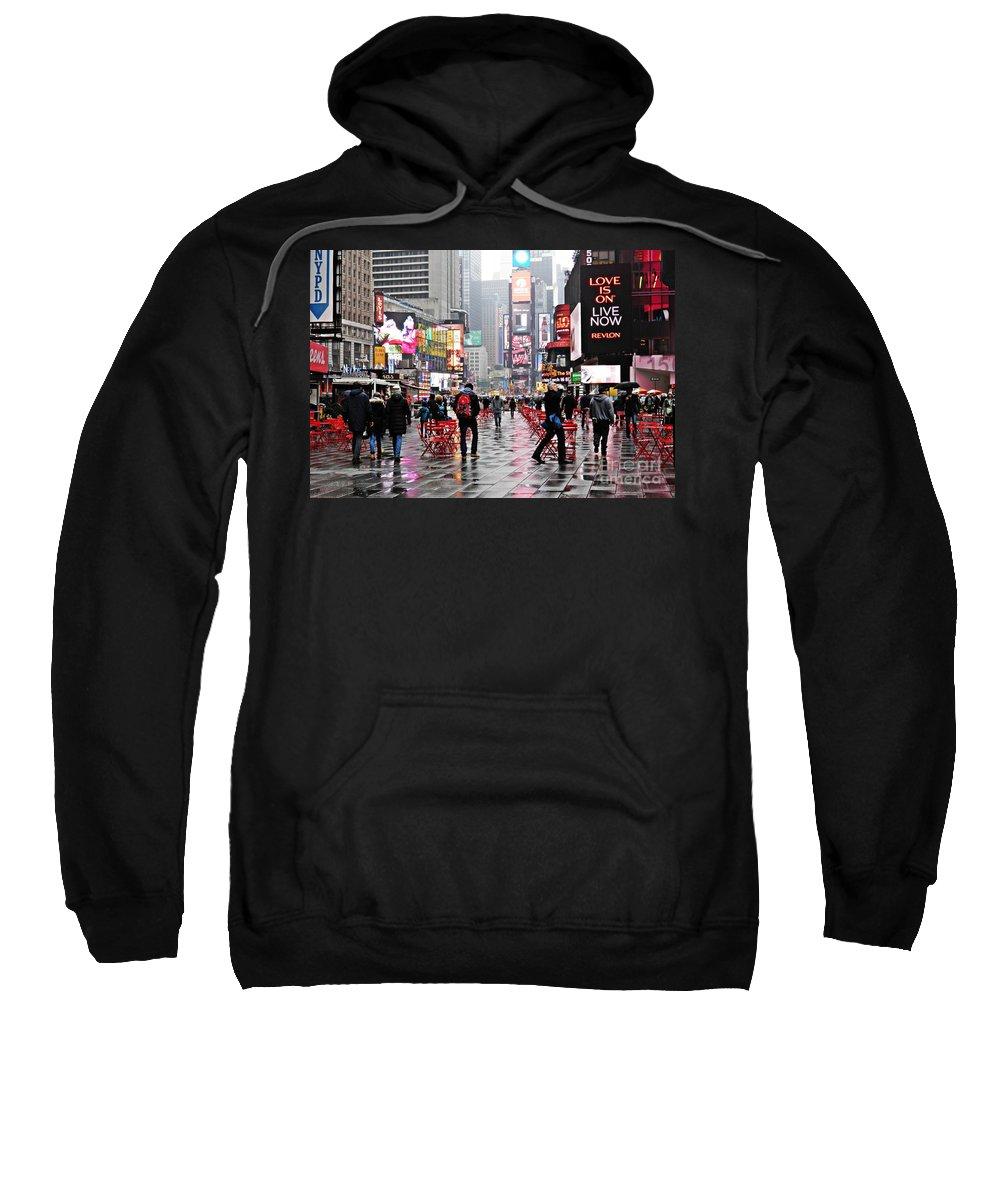 Manhattan Sweatshirt featuring the photograph When It Rains 3 by Sarah Loft