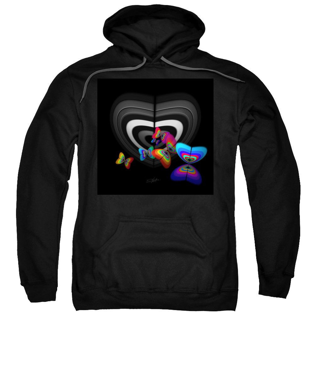 Monochrome Sweatshirt featuring the digital art Where Angels Fear To Tread by Charles Stuart