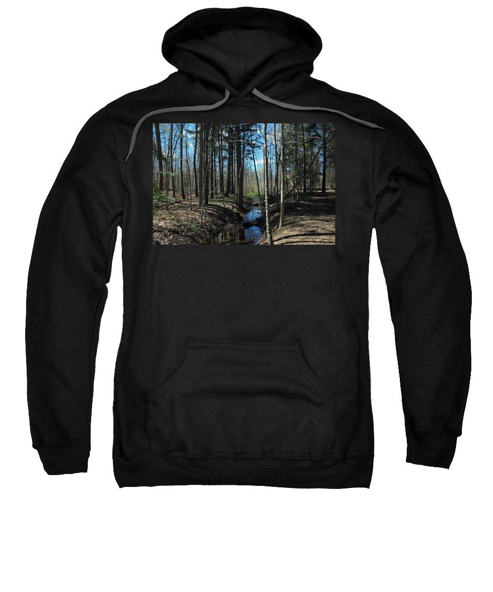 Usa Sweatshirt featuring the photograph Where The White Tail Deer Run by LeeAnn McLaneGoetz McLaneGoetzStudioLLCcom