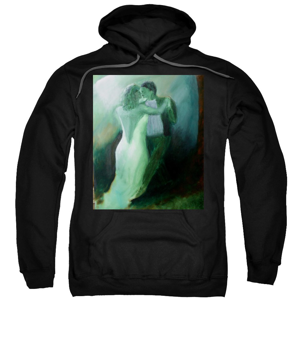 Dance Sweatshirt featuring the painting Whispered Passion by Keith Thue