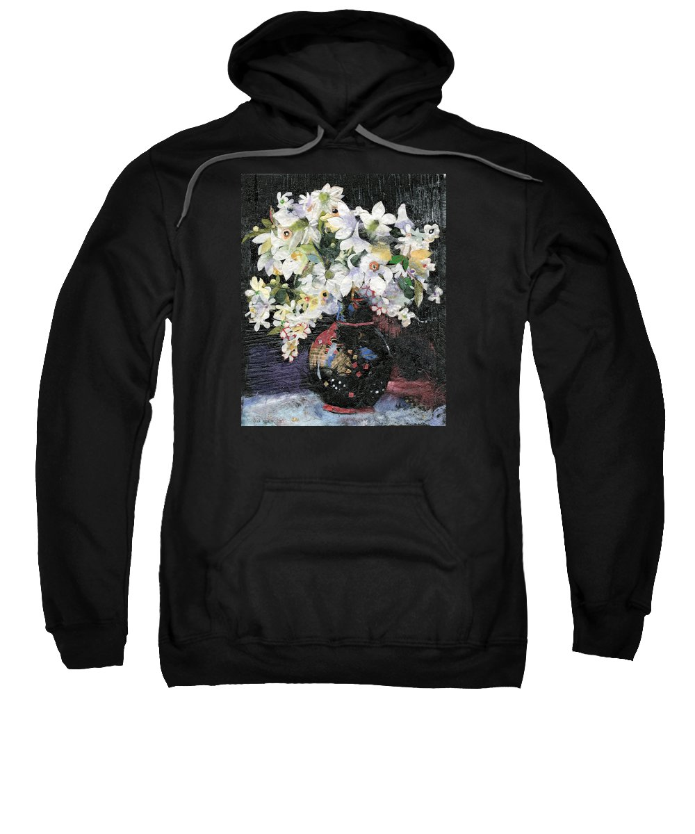 Limited Edition Prints Sweatshirt featuring the painting White Celebration by Nira Schwartz