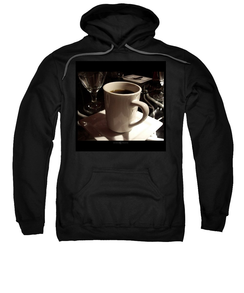 White Sweatshirt featuring the photograph White Cup by Tim Nyberg