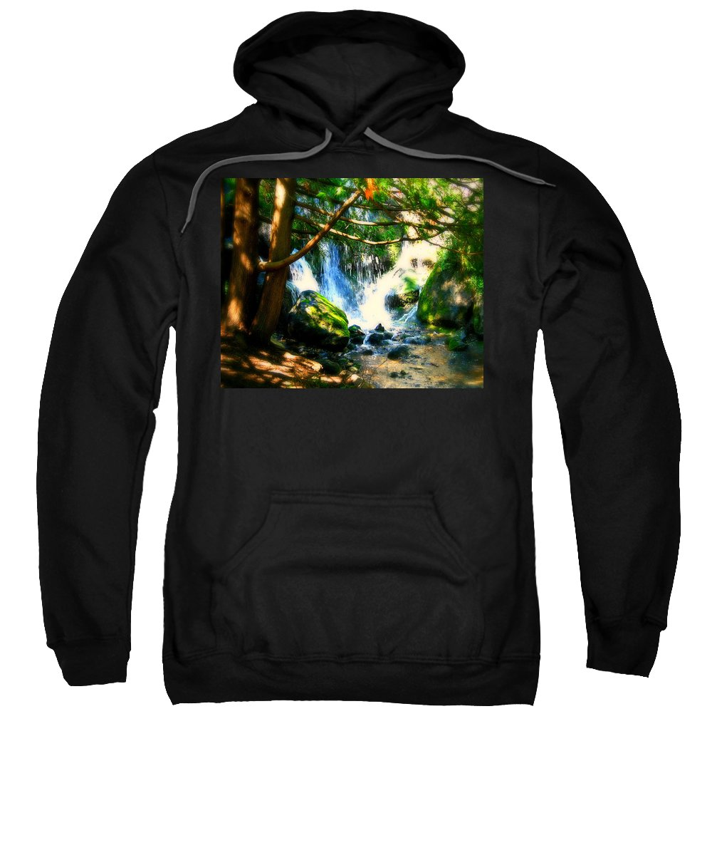Waterfall Sweatshirt featuring the photograph White Falls by Perry Webster