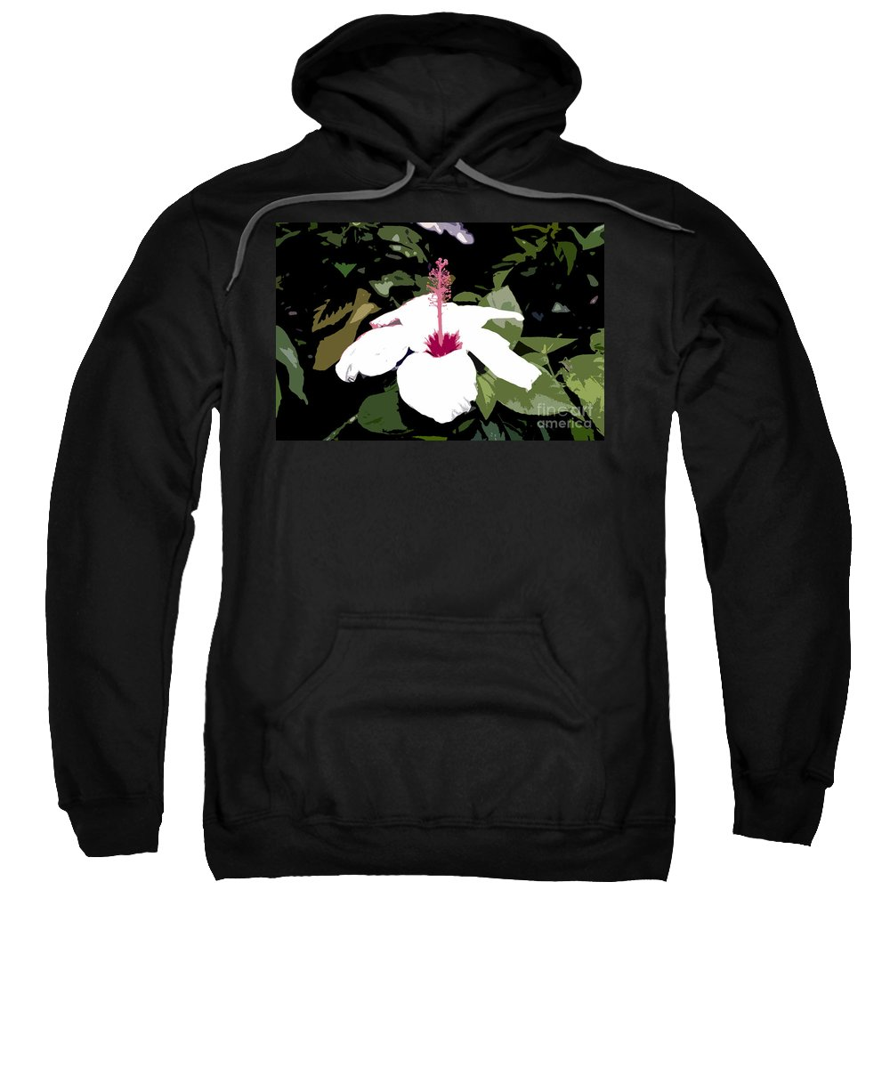 Flower Sweatshirt featuring the photograph White Flower Work Number 4 by David Lee Thompson