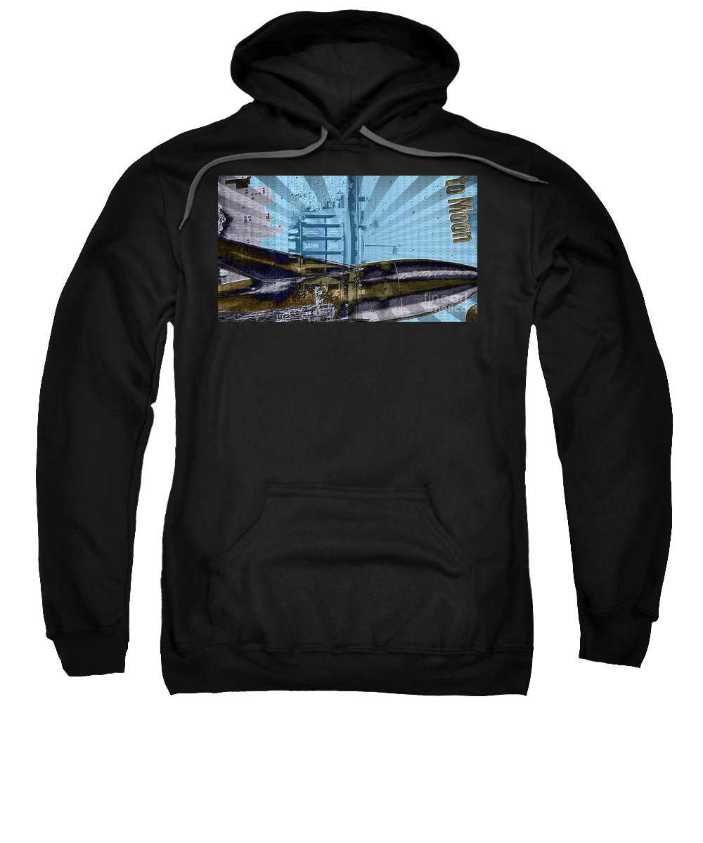 Sweatshirt featuring the digital art White House To The Moon by Jim Hansen