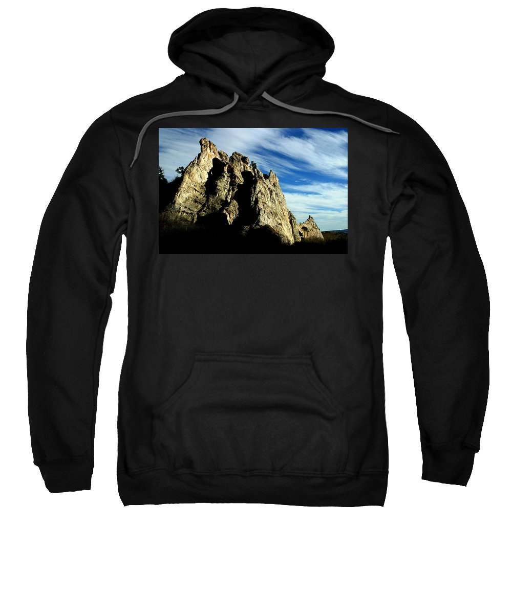 Garden Of The Gods Sweatshirt featuring the photograph White Rocks by Anthony Jones