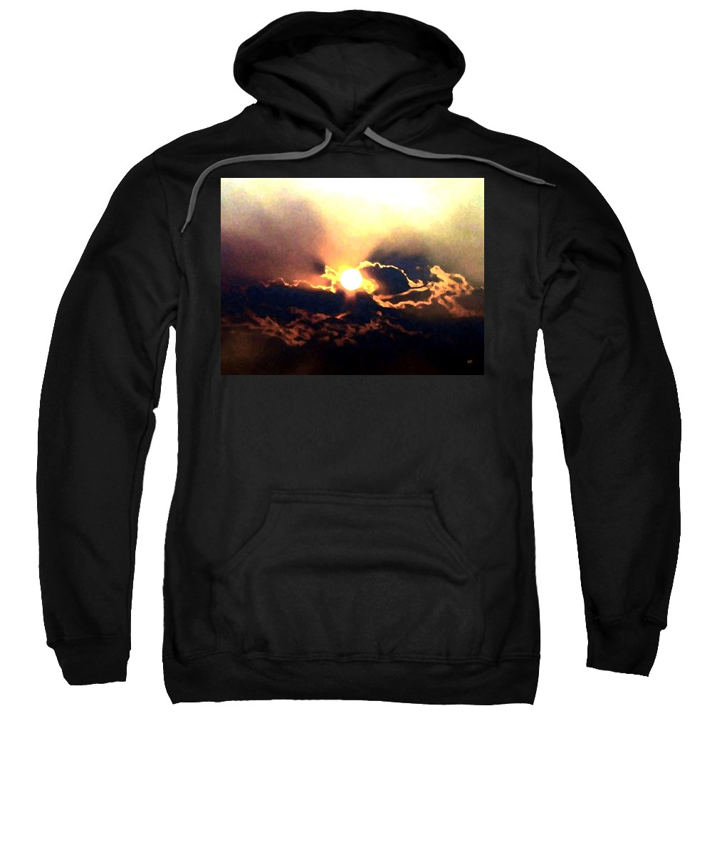 Abstract Sweatshirt featuring the digital art Who Has Kissed The Sun by Will Borden